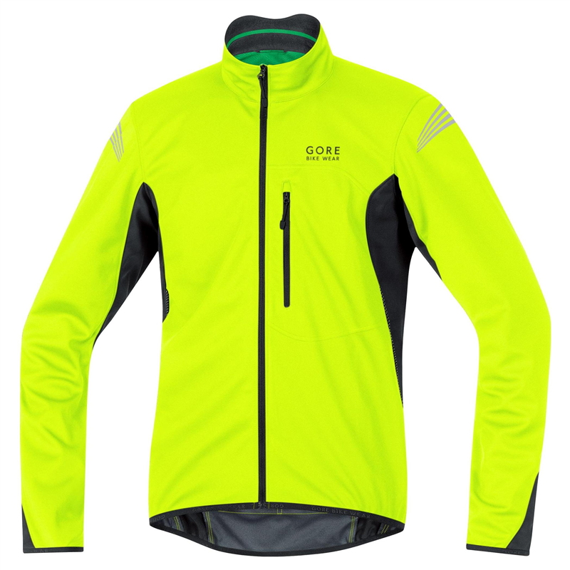 Chaqueta Gore Bike Wear Element Windstopper SO Negro-Neón