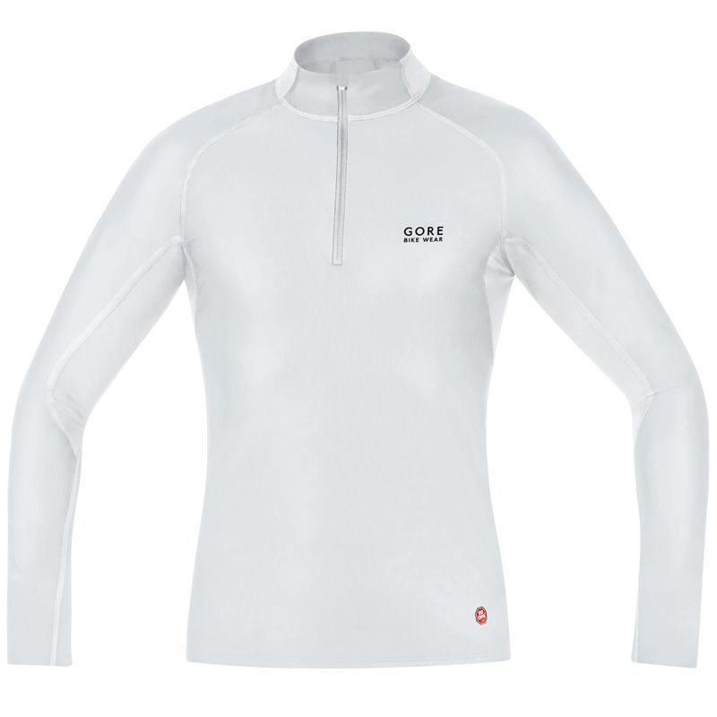 Camiseta térmica Gore Bike Wear Baselayer WS Turtleneck Blanco 2016